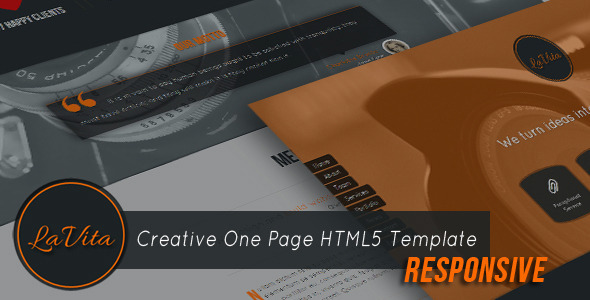 LaVita – Creative One Page HTML5 Template