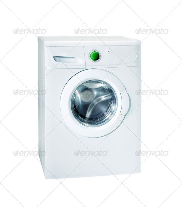 Washing machine isolated - Stock Photo - Images