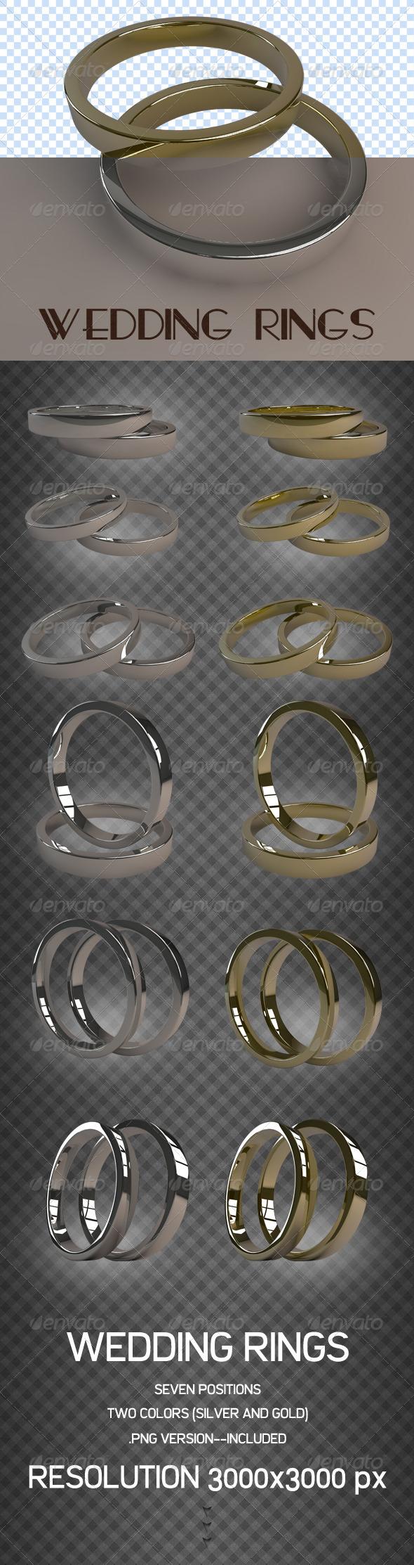 Wedding Rings - 3D Renders Graphics