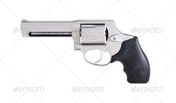 revolver isolated on white - Stock Photo - Images