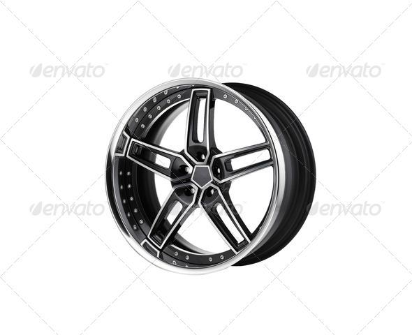 alloy rim on white background - Stock Photo - Images