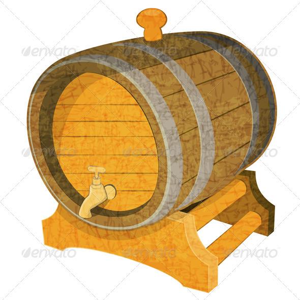 Wine Cask - Objects Vectors