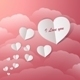 Flying Paper Hearts In A Vintage Sky - GraphicRiver Item for Sale