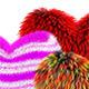 3d Fur Hearts - GraphicRiver Item for Sale
