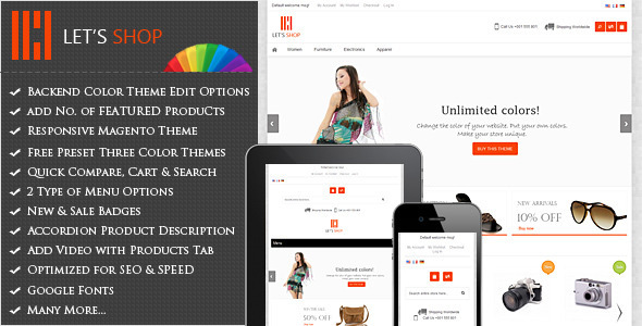 Let's Shop – Responsive Magento Theme