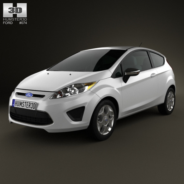 Ford Fiesta hatchback 3-door (US) 2012 - 3DOcean Item for Sale