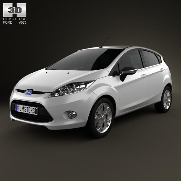 Ford Fiesta hatchback 5-door (EU) 2012 - 3DOcean Item for Sale