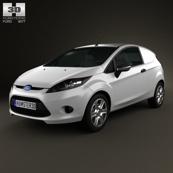 Ford Fiesta Van 2012 - 3DOcean Item for Sale