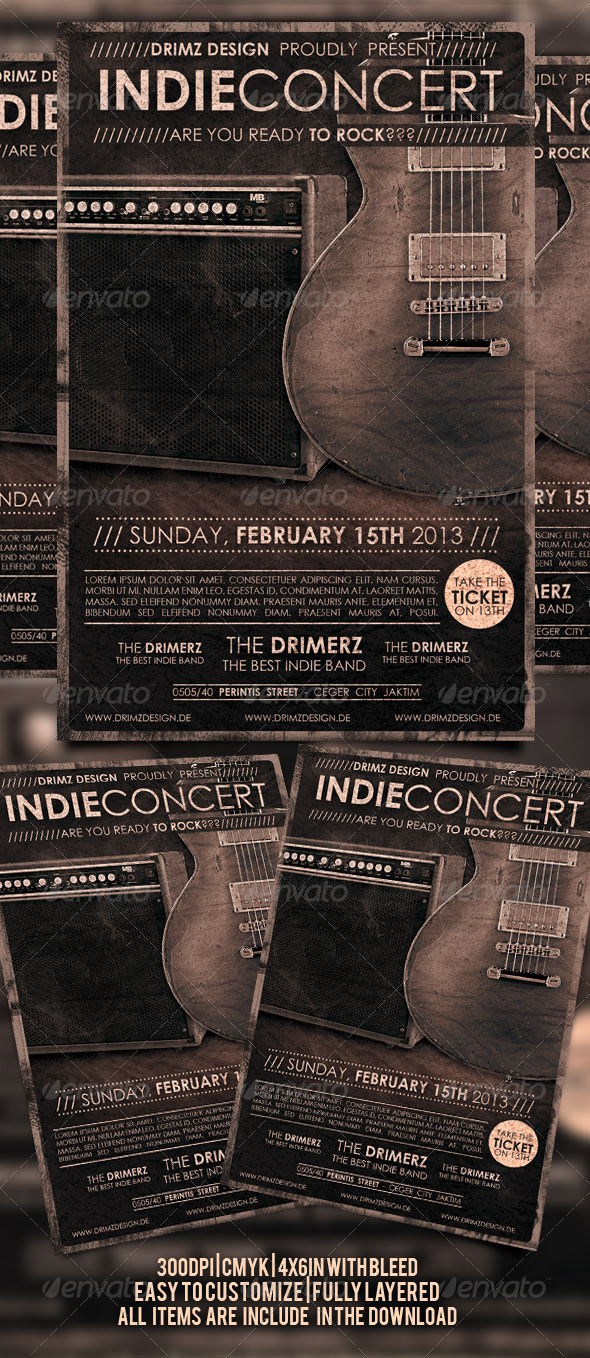 Indie Concert Flyer - Concerts Events
