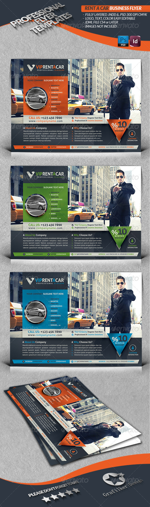 Rent A Car Business Flyer - Corporate Flyers
