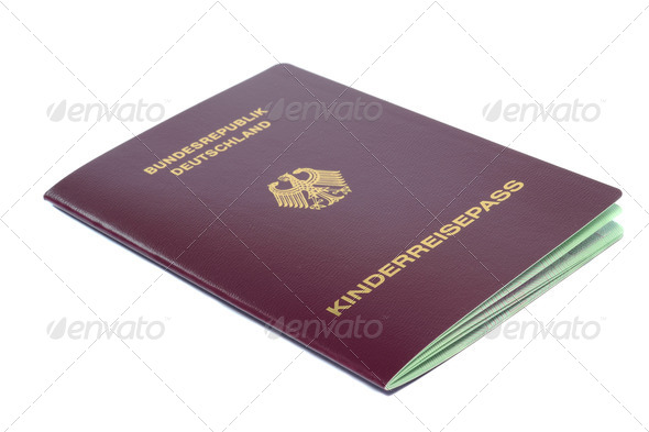 Childs German Passport - Stock Photo - Images