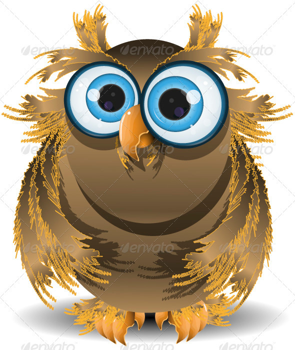 goggle-eyed wise owl - Animals Characters