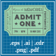 Retro Tickets For Photobooth Props - GraphicRiver Item for Sale