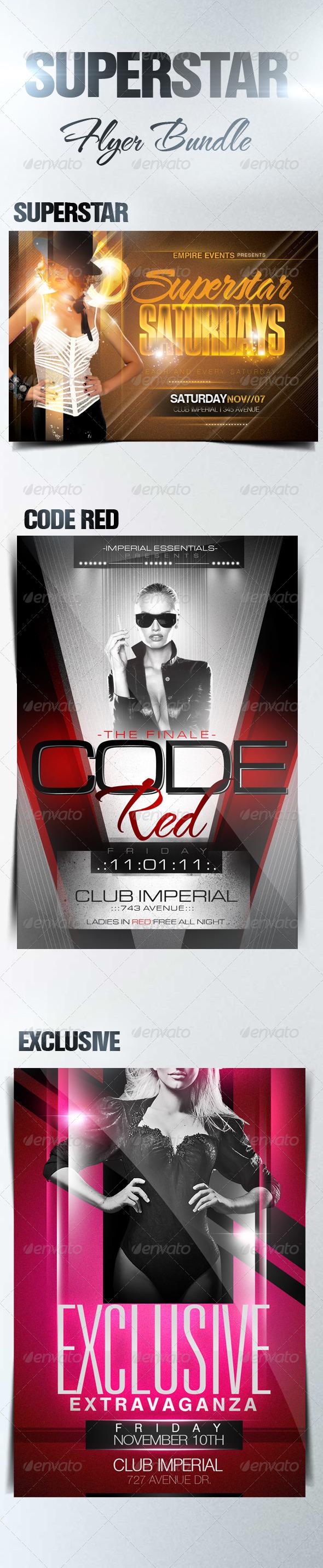 Superstar Flyer Bundle - Clubs & Parties Events