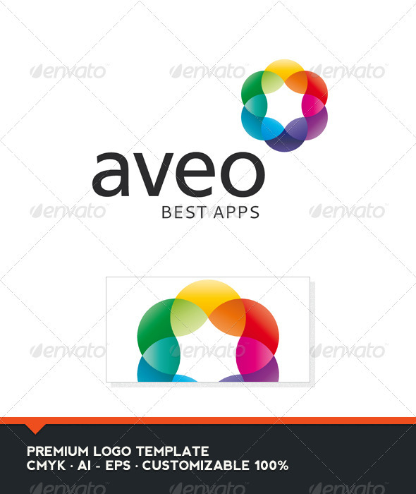 Aveo - Abstract Colorful Logo Template - Vector Abstract
