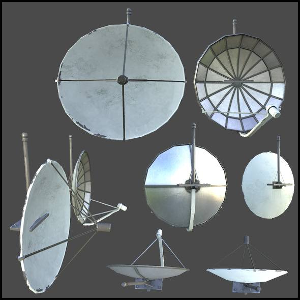 Satellite Dishes - 3DOcean Item for Sale