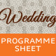 Wedding Programme Sheet - Schedule - GraphicRiver Item for Sale