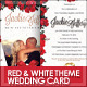 Red & White Theme Wedding Invitation Card - GraphicRiver Item for Sale