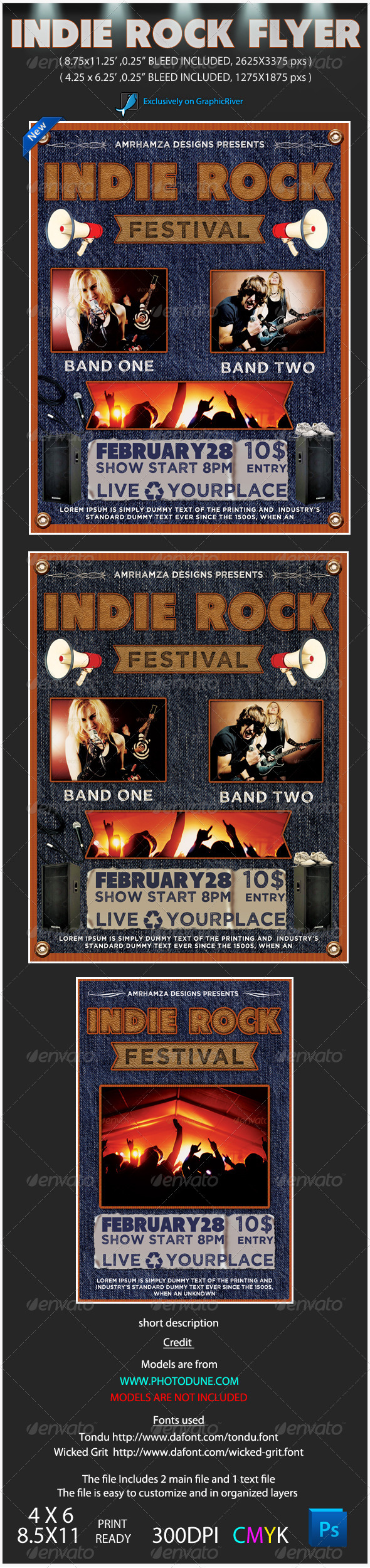 Indie Rock Poster Event - Concerts Events