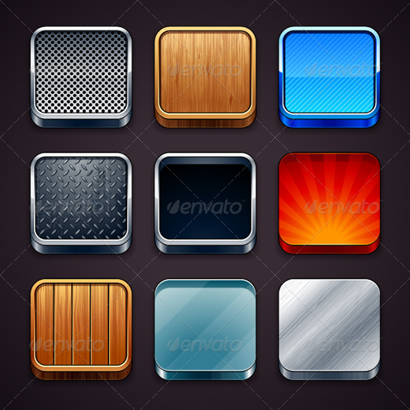 High detailed apps icons - Backgrounds Business
