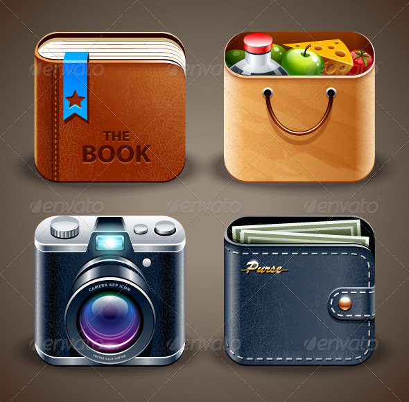 High detailed apps icons - Vectors