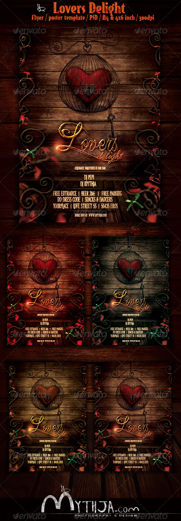 Lovers Delight - Valentines Event Flyer/Poster  - Events Flyers
