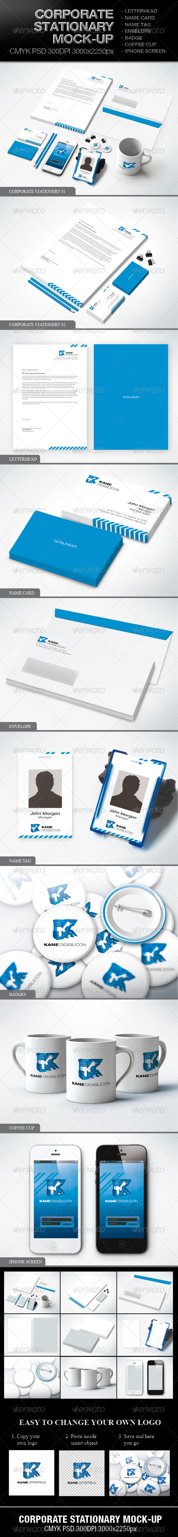 Corporate Stationary Mock-up - Stationery Print