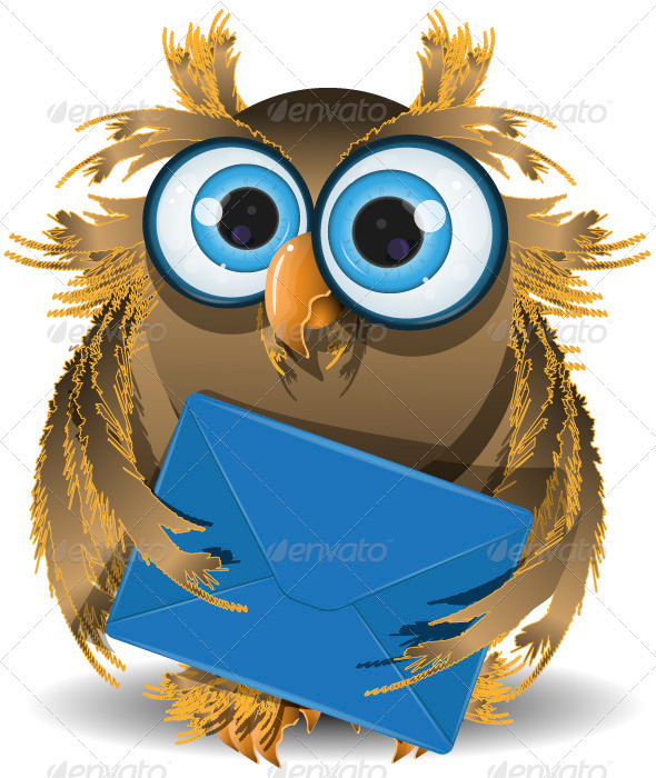 Owl with a Letter - Animals Characters