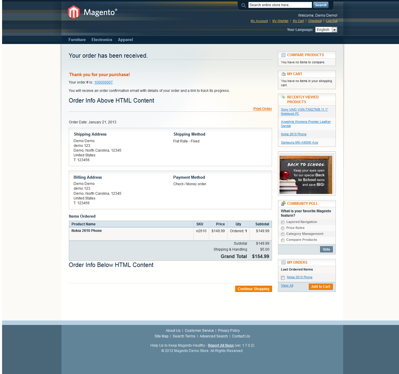 Modifying The Checkout Success Page In Magento Magento - Ima
