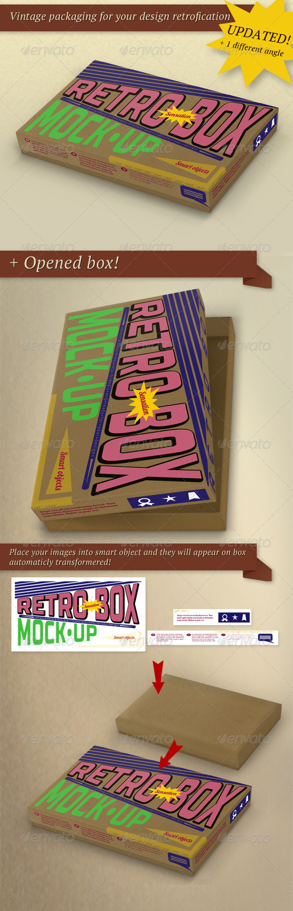 Retro Package Box Mock-Up - Miscellaneous Packaging