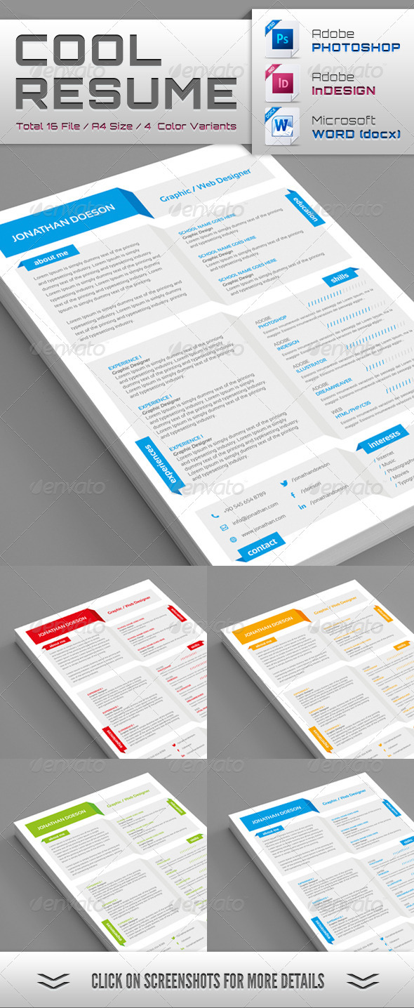 Cool Resume - Resumes Stationery