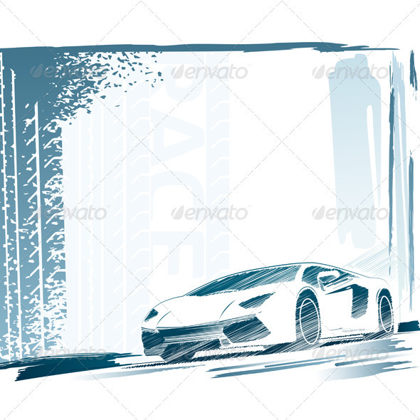 Sport Car and Background - Man-made Objects Objects