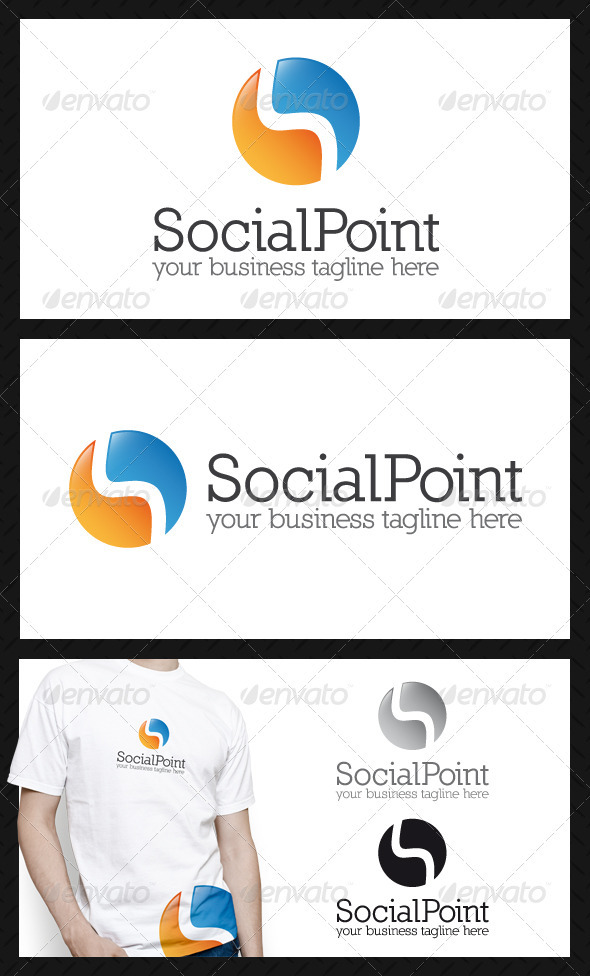 Social Point Logo Template - Letters Logo Templates