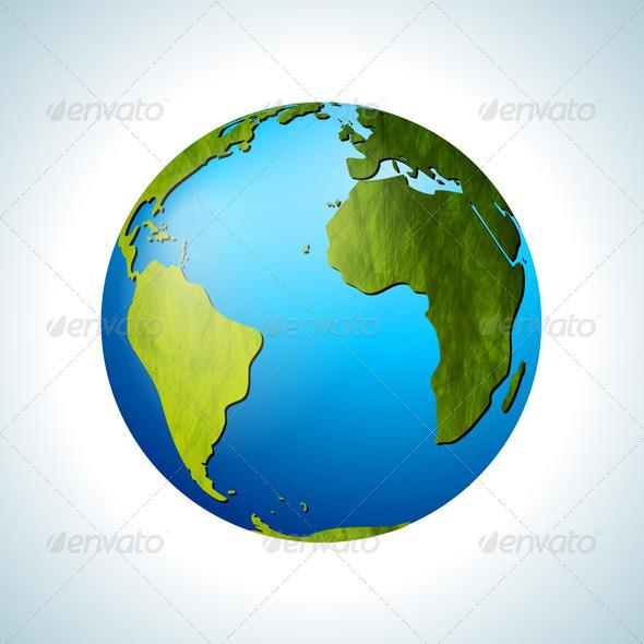 Grunge Vector Globe - Nature Conceptual