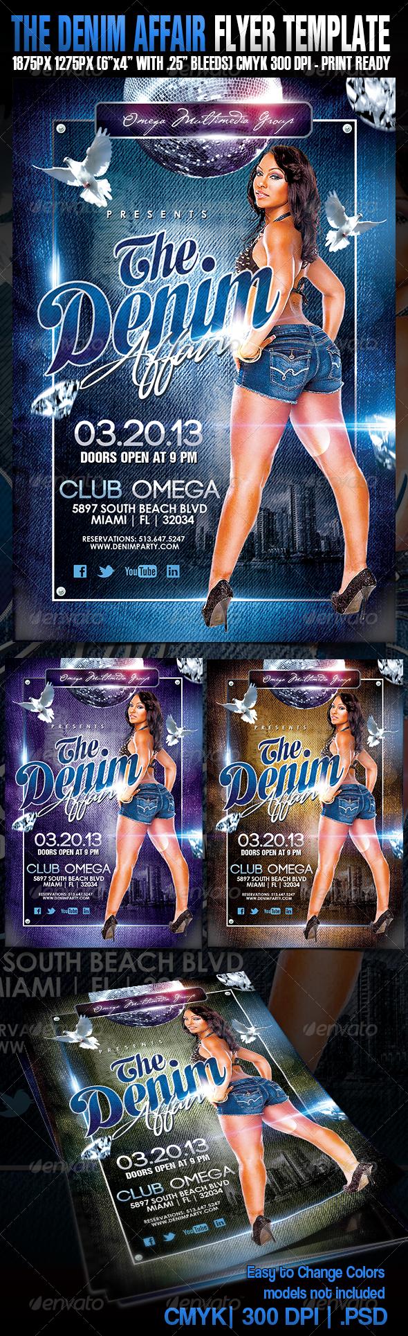 The Denim Affair - Events Flyers