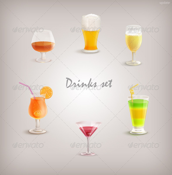 Drinks Set - Objects Illustrations
