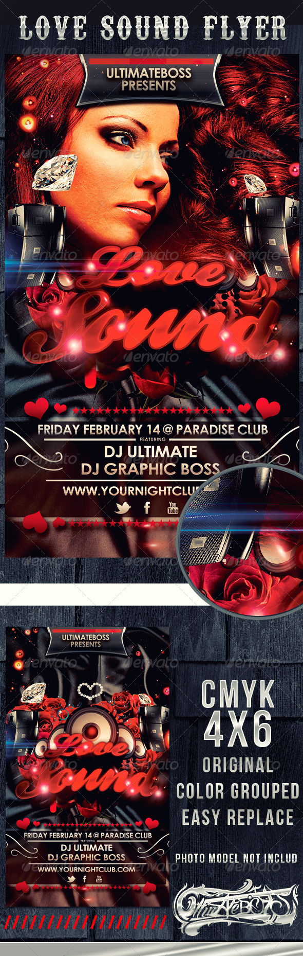 Love Sound Flyer - Clubs & Parties Events