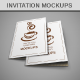 Invitation / Greeting Mockups  - GraphicRiver Item for Sale