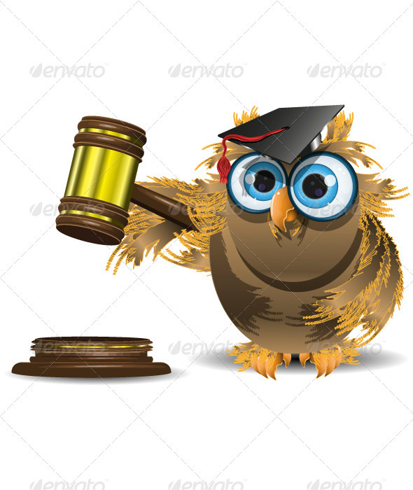 judge owl - Animals Characters