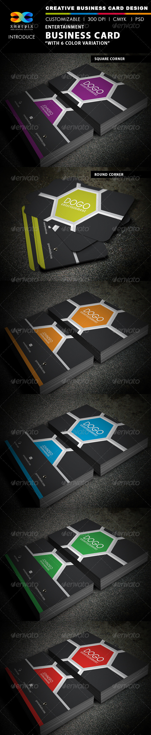 Entertainment Business Card by -axnorpix | GraphicRiver