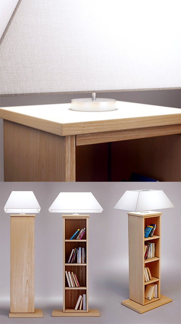 3d model of Bookcase lamp CASAMILANO - 3DOcean Item for Sale