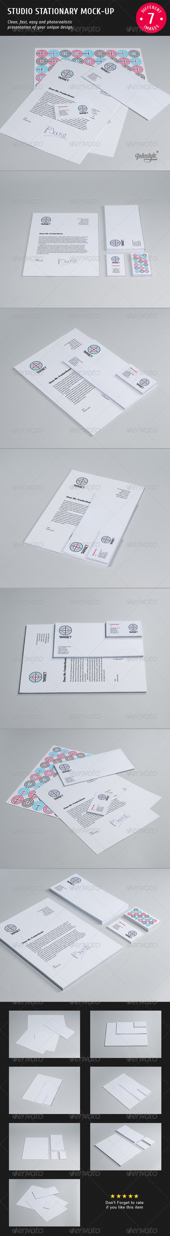Studio Stationary Mock-up - Stationery Print