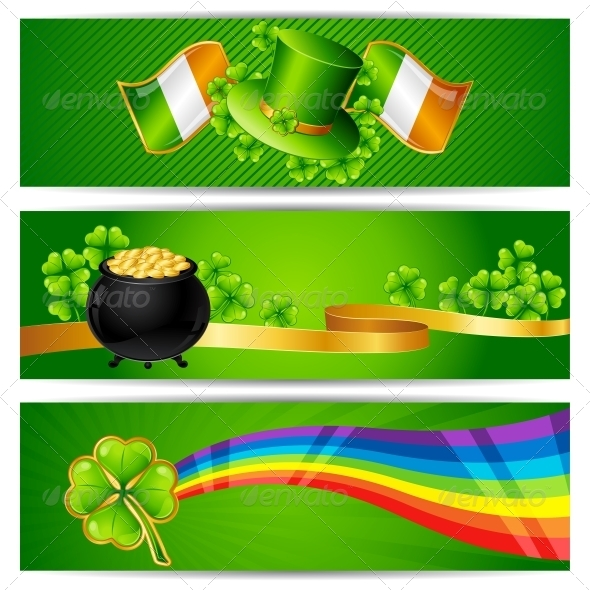 Banners for Saint Patrick's day. - Christmas Seasons/Holidays