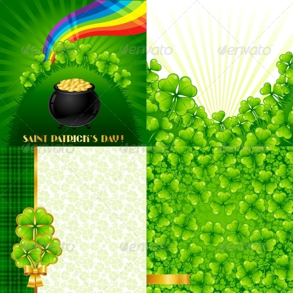 Greeting cards for Saint Patrick's day. - Flowers & Plants Nature