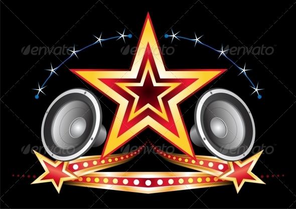 Music neon - Decorative Symbols Decorative