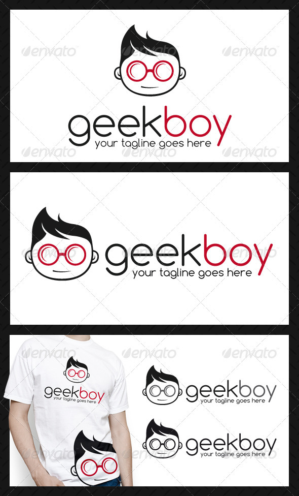 Geek Logo Template - Humans Logo Templates
