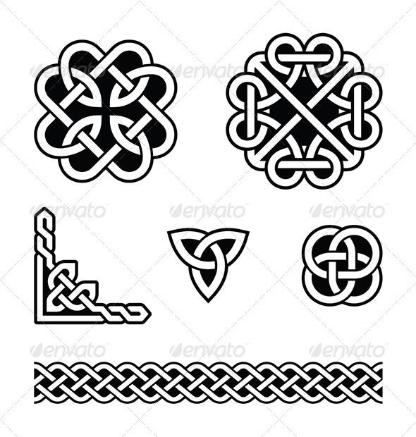 Celtic knots patterns - vector - Religion Conceptual