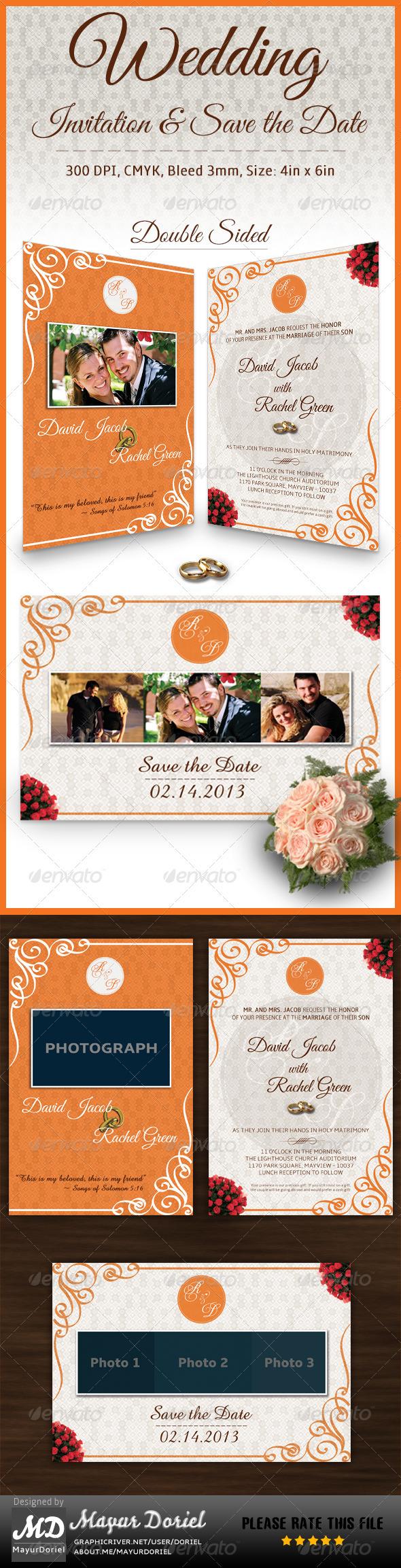 Wedding Invitation Card & Save the Date - Invitations Cards & Invites