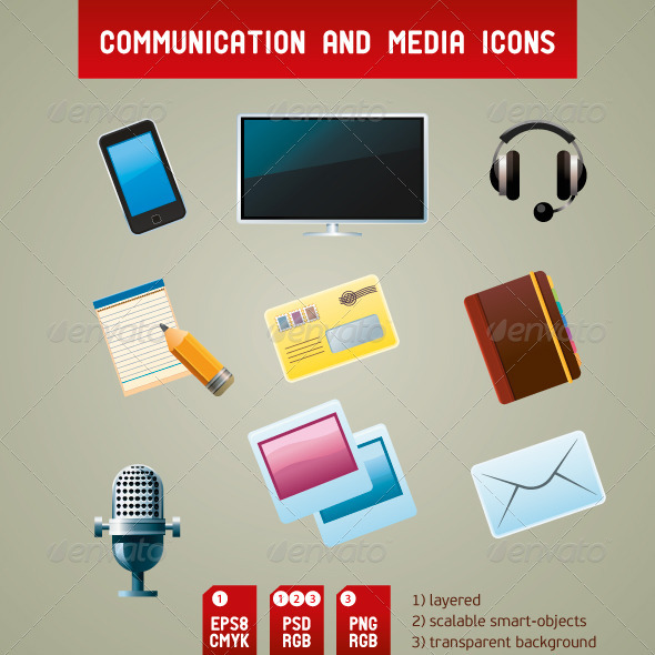 Communication and Media Icons - Communications Technology