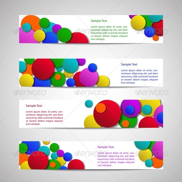 Flyers with Colored Circles - Backgrounds Business